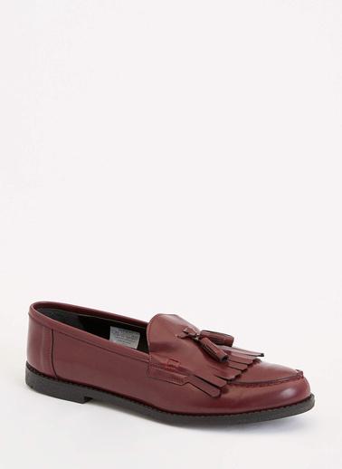 DeFacto Loafer Ayakkabı Bordo